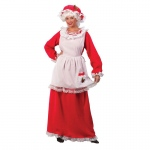 Womens Traditional Mrs Claus Costume - One-Size: One-Size, Everyday, Adult