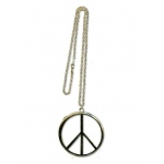 FAD TREASURES Gold Peace Extra Large Sign Necklace One-Size