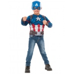Imagine Captain America Muscle Chest Shirt Set One Size
