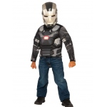 War Machine Muscle Chest Shirt Set: One Size, Dress Up, Child