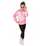 Grease Girls Pink Ladies Jacket S: Small, Dress Up