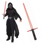 Star Wars Episode VIII: The Last Jedi - Kylo Ren Classic Adult Costume and Lightsaber Bundle - STD: Multi-colored, Standard, Halloween, Male, Adult