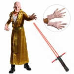 Star Wars The Last Jedi - DLX Men's Supreme Leader Snoke Costume with Lightsaber and Hands - STD: Multi-colored, Standard, Halloween, Male, Adult