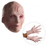 Star Wars Episode VIII: The Last Jedi - Supreme Leader Snoke Vinyl Mask and Latex Hands - One Size: Multi-colored, One-Size, Halloween, Male, Adult