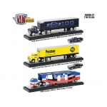 Auto Haulers Release 27, 3 Trucks Set 1/64 Diecast Models by M2 Machines