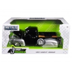 1951 Chevrolet Pickup Truck Lowrider Black / Silver 1/24 Diecast Car Model by Jada