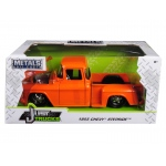 1955 Chevrolet Stepside Pickup Truck Orange 1/24 Diecast Car Model by Jada