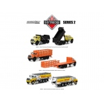 2017 International Workstar Trucks Set of 3 SD Trucks Series 2 1/64 Diecast Models by Greenlight