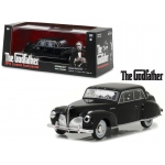 "1941 Lincoln Continental Black with Bullet Damage ""The Godfather"" Movie (1972) 1/43 Diecast Model Car by Greenlight"