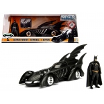 1995 Batman Forever Batmobile with Diecast Batman Figure 1/24 Diecast Model Car by Jada