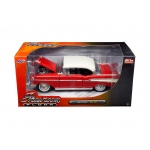 "1957 Chevrolet Bel Air Red ""Showroom Floor""1/24 Diecast Model Car by Jada"