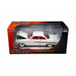 "1961 Chevrolet Impala White ""Showroom Floor"" 1/24 Diecast Model Car by Jada"