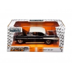 "1957 Chevrolet Bel Air Black/White ""Big Time Muscle"" 1/24 Diecast Model Car by Jada"