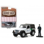 "2016 Jeep Wrangler US Customs and Border Protection with Officer ""The Hobby Shop"" Series 2 1/64 Diecast Model Car by Greenlight"