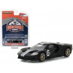 2017 Ford GT Black #2 - Tribute to 1966 Ford GT40 MK II #2 Racing Heritage Series 1 1/64 Diecast Model Car by Greenlight