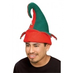 Rubie's Costumes Adult Red and Green Elf Hat with Bells