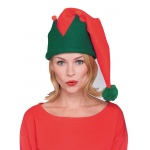 Rubie's Costumes Adult Red And Green Long Elf Hat