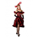 Cancan Girl Red Adult Costume - Large