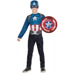 Imagine Captain America Super Shield & Costume Top Set Child One Size One-Size