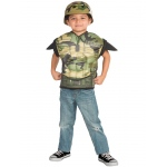 Imagine Army Combat Muscle Chest Shirt Set Child One Size One-Size