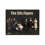 50's Style 6 Piece Figure Set for 1:24 Scale Models by American Diorama