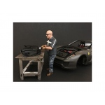 """Chop Shop"" Mr. Fabricator Figure for 1:18 Scale Models by American Diorama"
