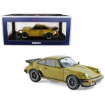 1977 Porsche 911 Turbo 3.3 Olive Green 1/18 Diecast Model Car by Norev