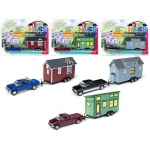 """Tiny Houses"" Set of 3 Trucks 1/64 Diecast Model Cars by Johnny Lightning"