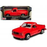 1992 GMC Sierra GT Red Pickup Truck 1/24 Diecast Model by Motormax