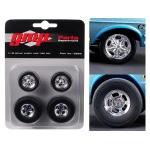 Wheels and Tires Set of 4 from Ohio George's 1967 Ford Mustang Malco Gasser 1/18 by GMP