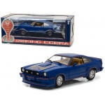 1978 Ford Mustang II King Cobra Blue 1/18 Diecast Car Model by Greenlight
