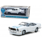 1978 Ford Mustang II King Cobra White 1/18 Diecast Car Model by Greenlight