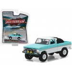 "1969 Ford F-100 Turquoise / White Pickup Truck ""All Terrain"" Series 6 1/64 Diecast Model Car by Greenlight"