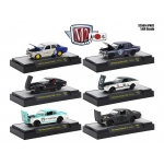 Auto Japan 6 Cars Set Nissan / Datsun IN DISPLAY CASES 1/64 Diecast Model Cars by M2 Machines