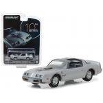 "1979 Pontiac Firebird Trans Am Silver ""10th Anniversary Edition"" Anniversary Collection Series 6 1/64 Diecast Model Car by Greenlight"