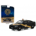"2016 Dodge Charger Police Pursuit Black with Yellow Stripe ""Michigan State Police 100th Anniversary Patrol Car"" Anniversary Collection Series 6 1/64 Diecast Model Car by Greenlight"