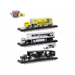 Auto Haulers Mooneyes Release, 3 Trucks Set 1/64 Diecast Models by M2 Machines