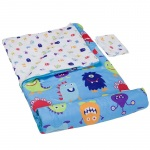 Wildkin Wildkin Olive Kids Monsters Microfiber Sleeping Bag w/ Pillowcase