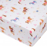 Wildkin Wildkin Olive Kids Horses Fitted Crib Sheet