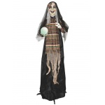 Sunstar Industries 5' Animated Standing Fortune Telling Witch with Lights & Sound