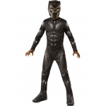 Marvel: Black Panther Movie  Black Panther Boys Costume - Large