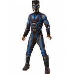 Marvel: Black Panther Movie Boys Deluxe Black Panther Battle Suit Costume - Small