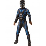 Marvel: Black Panther Movie Boys Deluxe Black Panther Battle Suit Costume - Medium