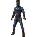 Marvel: Black Panther Movie Boys Deluxe Black Panther Battle Suit Costume - Large
