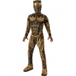 Marvel: Black Panther Movie Deluxe Boys Erik Killmonger Battle Suit Costume - Medium