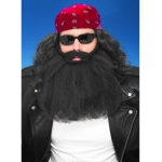Forum Novelties 14 Inch Black Beard And Moustache