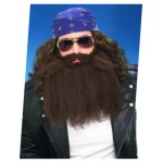 Forum Novelties 14 Inch Brown Beard And Moustache