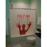 Morbid Help Me Bloody Shower Curtain
