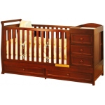 AFG Daphne I 3-in-1 Convertible Crib: Cherry