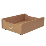 Kidkraft Train Trundle - Natural: Smooth rolling casters to allow for easy and effortless access